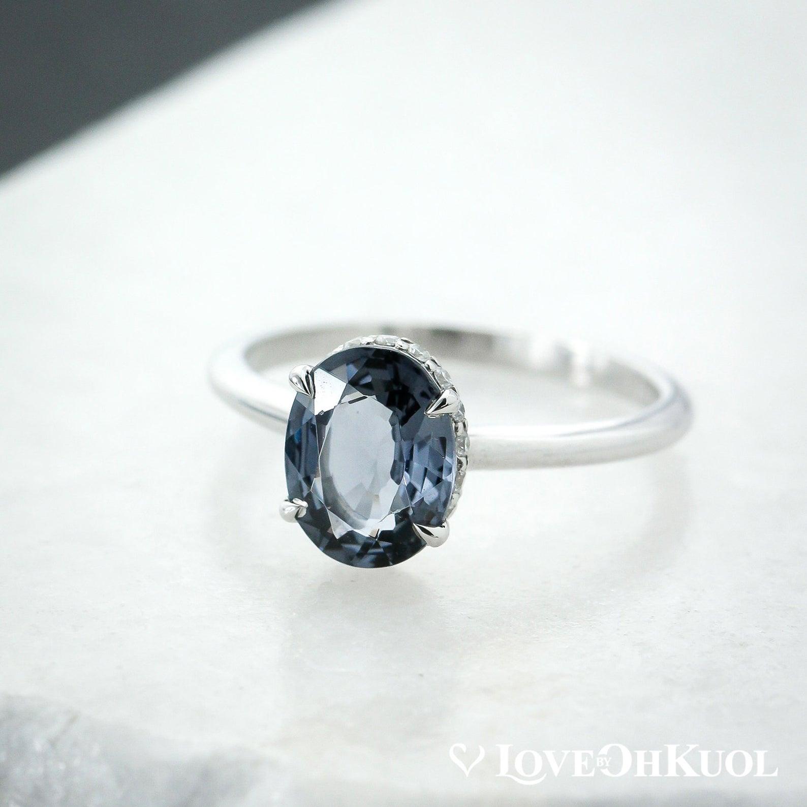 Blue Engagement Rings