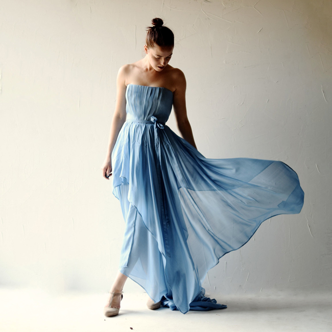 007-Blue Wedding Dresses from Etsy