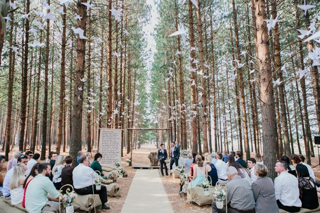Charming Forest Wedding Ceremony | Credit: Carolien & Ben