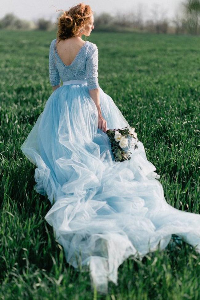 15 Breathtaking Blue Wedding Dresses