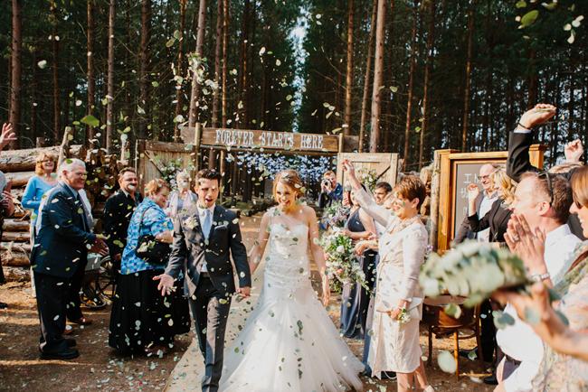 Forest Wedding Ceremony Exit   Credit: Carolien & Ben
