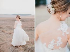 Blushing Bride Protea Hair Embellishment | Credit: Carolien & Ben