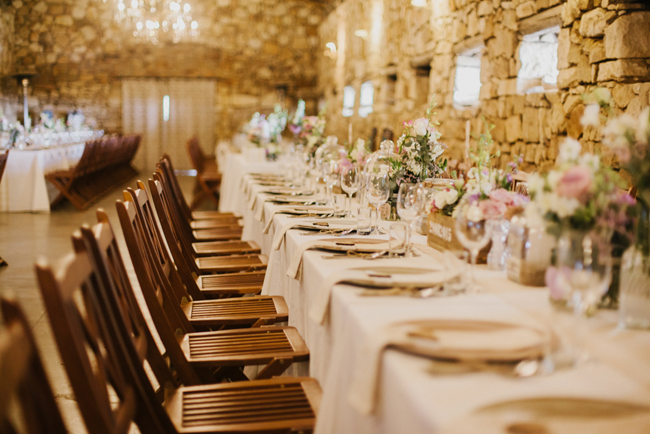 Rustic Farmhouse Wedding Reception   Credit: Carolien & Ben
