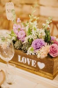 Rustic Wooden Box Wedding Decor | Credit: Carolien & Ben