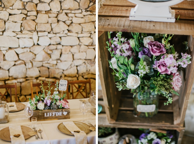 Rustic Farmhouse Wedding Decor | Credit: Carolien & Ben