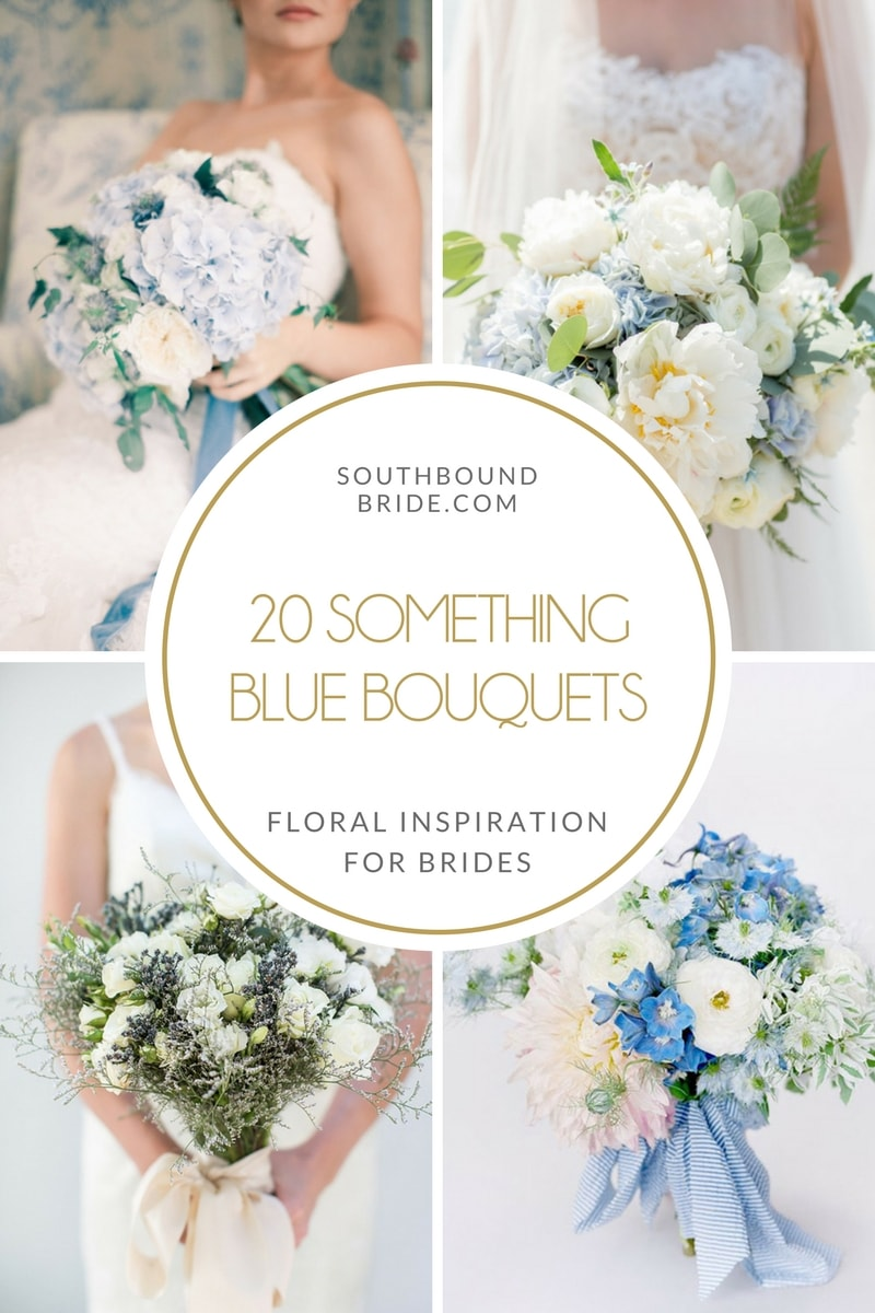 20 Something Blue Wedding Bouquets | SouthBound Bride