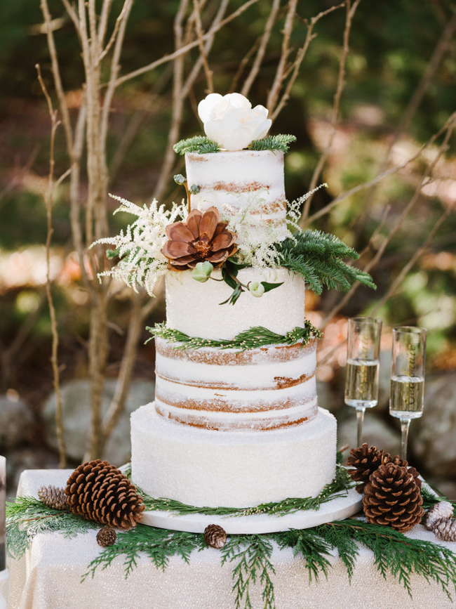 20 Crazy Gorgeous Winter Wedding Cakes SouthBound Bride