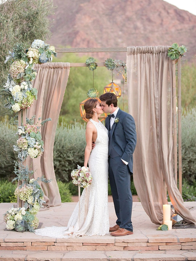 20 Draped Ceremony Arches Southbound Bride