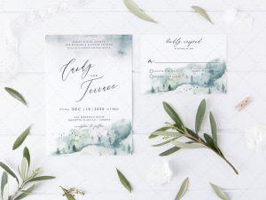 Printable Winter Wedding Invitations