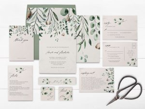 Printable Winter Wedding Invitations