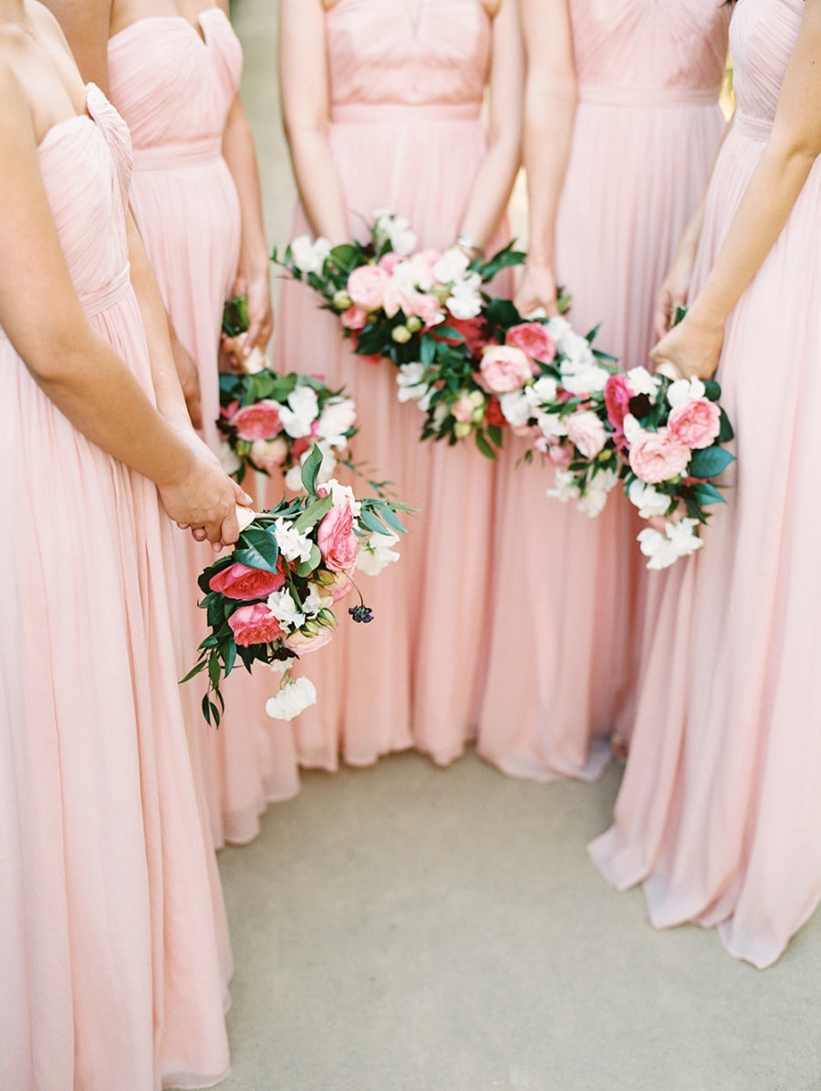 2ff96116389 There s no more classic look for bridesmaids than pink gowns