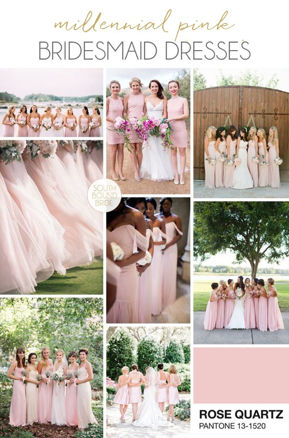 Millennial Pink Bridesmaid Dresses | SouthBound Bride
