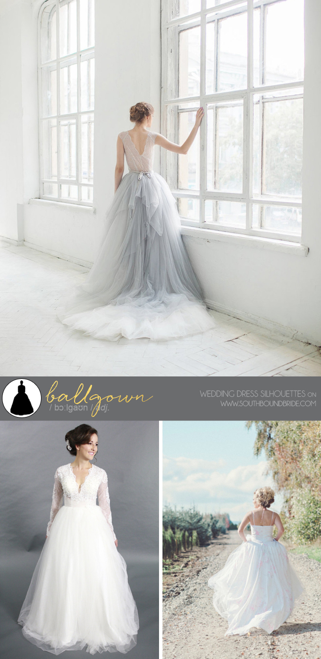 Different types of wedding dresses southbound bride a southbound guide to wedding dress silhouettes junglespirit Images