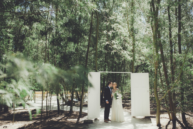 Forest Wedding First Look | Image: Fiona Clair
