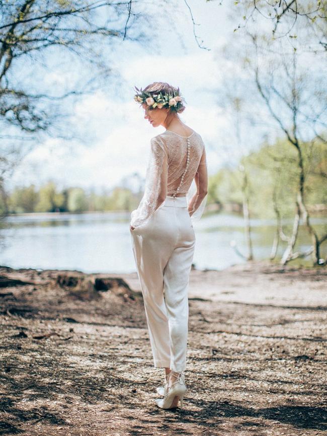 Lace Back Bridal Jumpsuit