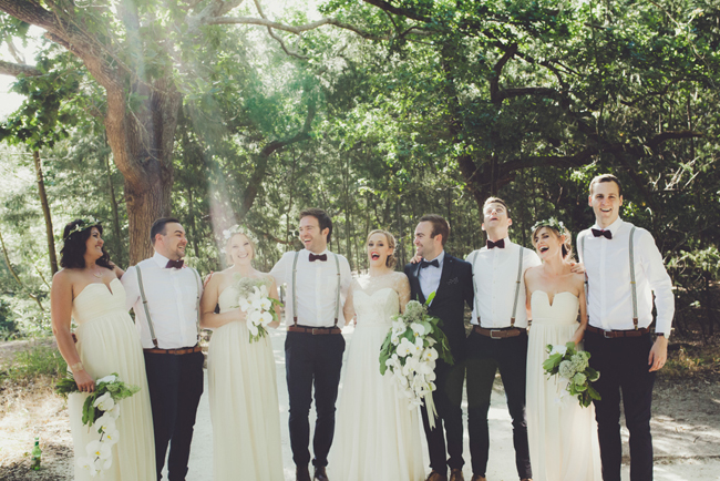 Magical Forest Wedding Bridal Party | Image: Fiona Clair