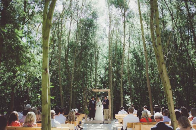 Forest Wedding Ceremony   Image: Fiona Clair