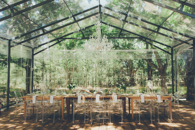 Glass Marquee Wedding | Image: Fiona Clair