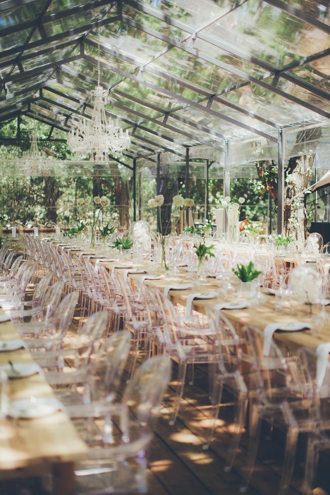 Transparent Wedding Decor   Image: Fiona Clair