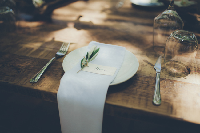 Place Setting with Eucalyptus Lead | Image: Fiona Clair