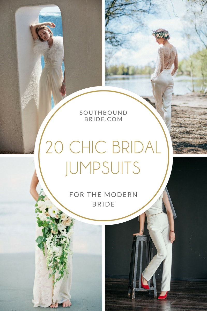 20 Chic Bridal Jumpsuits | SouthBound Bride