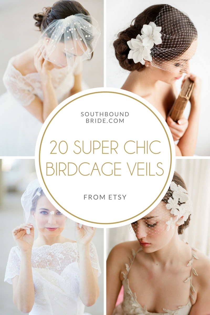 Chic Birdcage Veils on SouthBound Bride