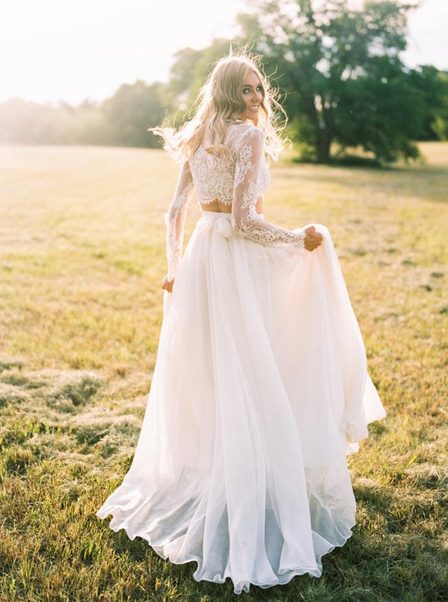 Two-Piece Boho Wedding Dress