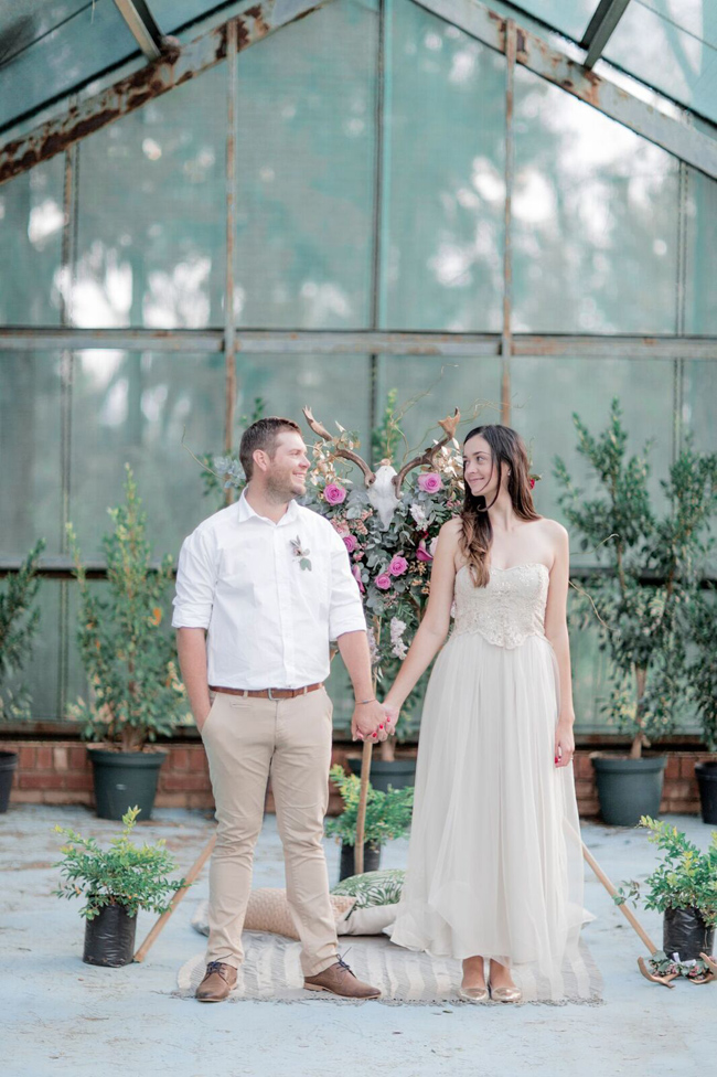 Boho Engagement Shoot with Floral Tipi