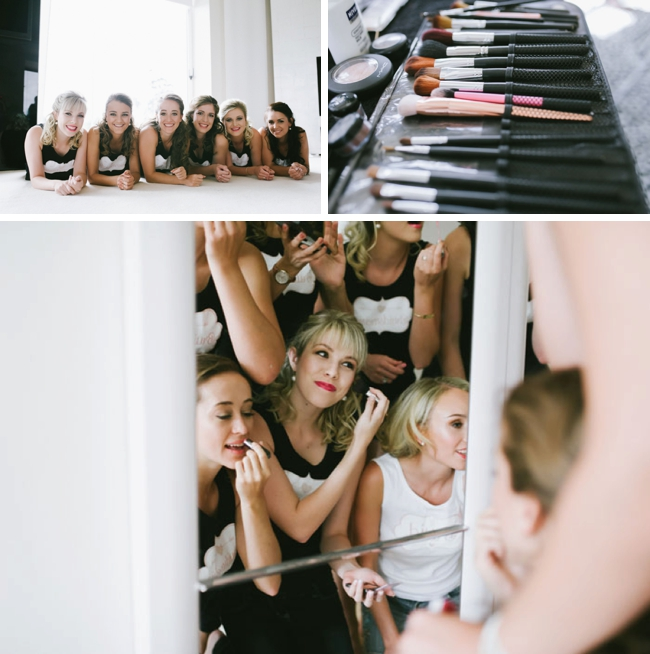 Bridesmaids Getting Ready Fun Photo