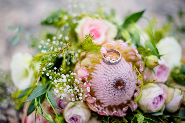 Protea Bouquet & Engagement Ring