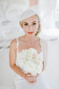 Bride with White Bouquet