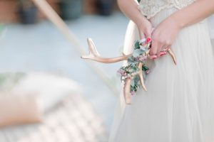 Bride with Gold Antlers