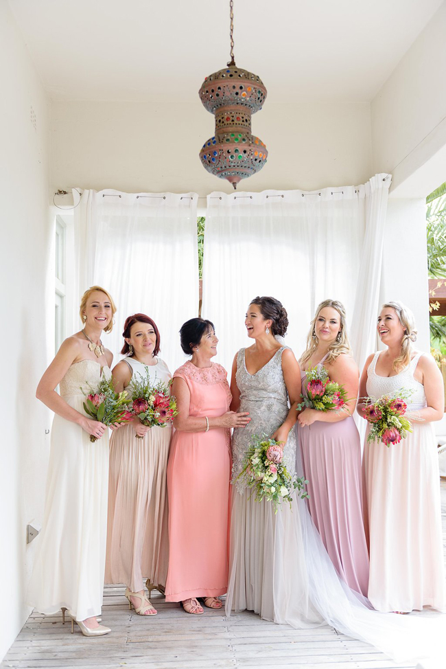 Mixed Pastel Bridesmaid Dresses