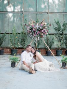 Couple with Flower Tipi