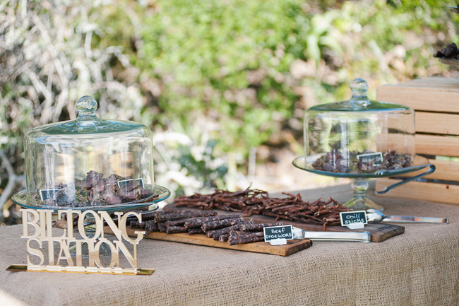 Biltong Bar Wedding Idea
