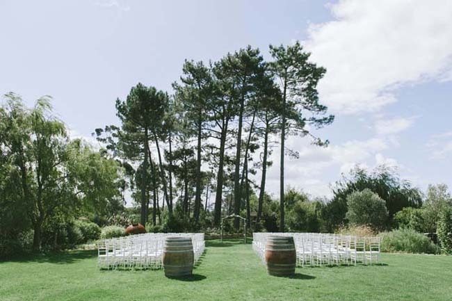 Winelands Wedding Ceremony Area