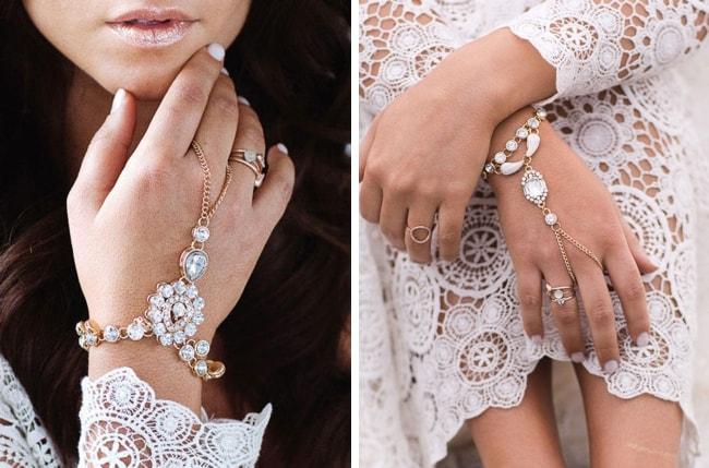 Boho Bridal Hand Chain