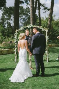 Simple Floral Wedding Arch
