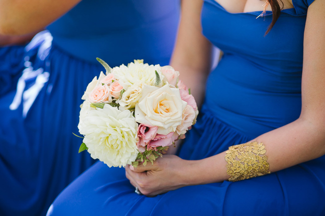 Bridesmaids in Royal Blue