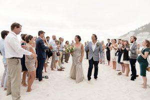 Beach Wedding Ceremony Exit