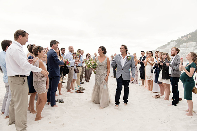 Beach Wedding Ceremony Exit
