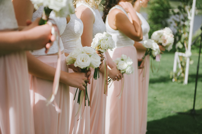 Peach Bridesmaid Separates