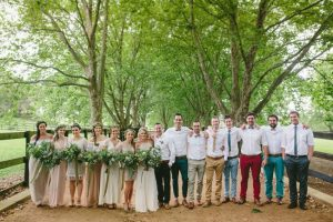 Mismatched Wedding Party