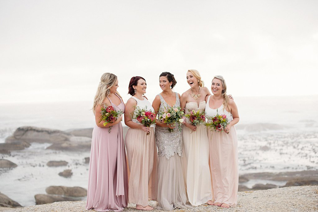 Mixed Pastel Bridesmaids
