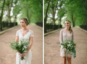 Bridesmaids with Greenery Bouquets
