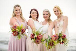 Protea Bridesmaid Bouquets