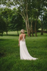 Julia Ferrandi Wedding Dress with Back Detail