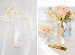 Pink & Gold Wedding Table Decor