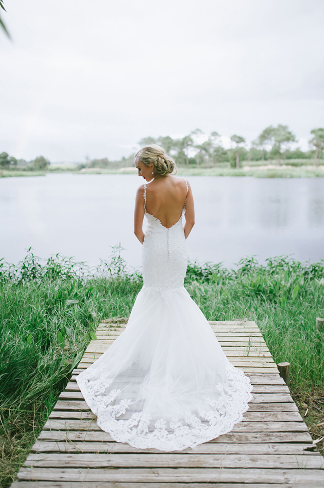 Low Back Janita Toerien Wedding Dress