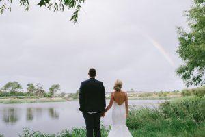 Bride & Groom with Rainbow
